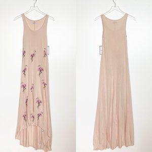 Lauren Moshi Flamingo Maxi Dress Blush Small